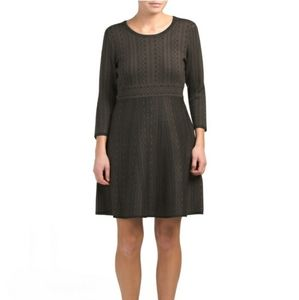 Nina Leonard - Fit and Flare A-Line Sweater Dress